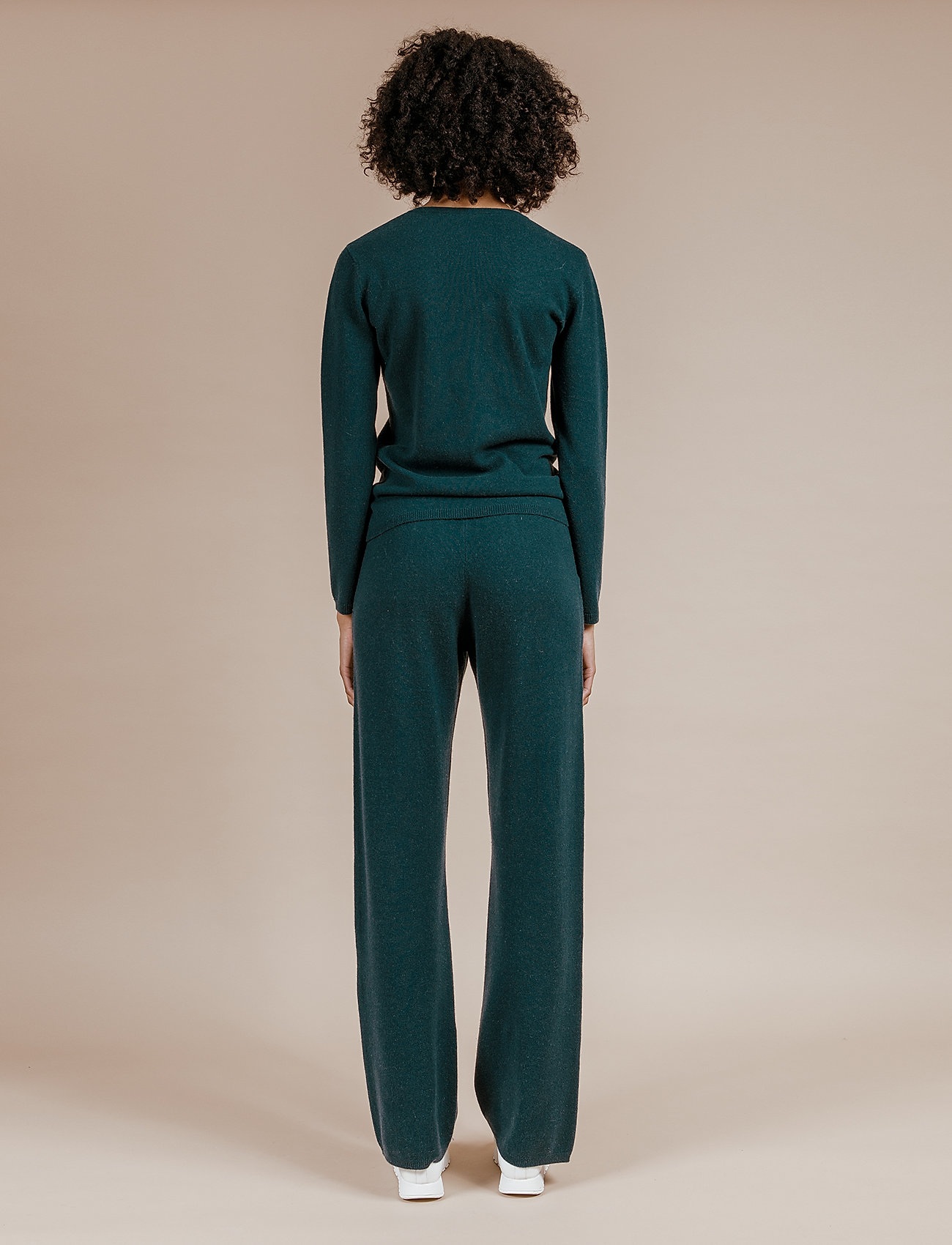 Andiata - Christie knit joggers - kleidung - teal green - 4