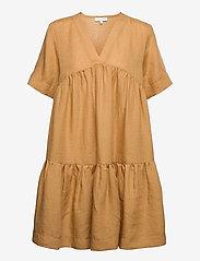 Andiata - Adabella Linen Dress - sundried oak brown - 0