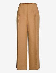Andiata - Kamille Linen Trousers - pantalons droits - sundried oak brown - 0