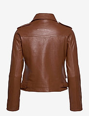 Andiata - Josita Leather Jacket - skinnjackor - cinnamon brown - 2