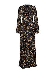 Calynda Dress - PHANTOM BLACK FLOWER