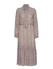Andiata PATTRIINA LONG DRESS - LT. GREY FLOWER