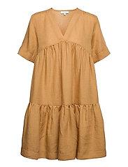 Adabella Linen Dress - SUNDRIED OAK BROWN