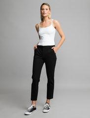 Andiata - Jamy Jersey Trousers - slim fit bukser - black - 0