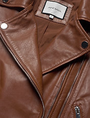 Andiata - Josita Leather Jacket - skinnjackor - cinnamon brown - 5
