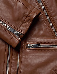 Andiata - Josita Leather Jacket - skinnjackor - cinnamon brown - 6