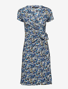FALIDA L DRESS - SKY BLUE FLOWER