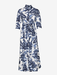SINNE DRESS - SAPPHIRE BLUE PRINT