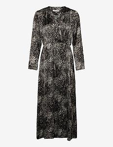 MEY 2 DRESS - omslagskjoler - black print