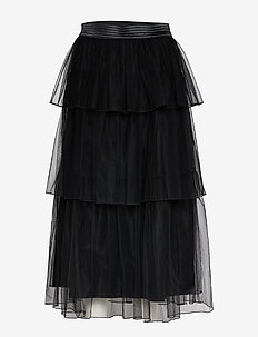 DIAN 85 TULLE SKIRT - JET BLACK