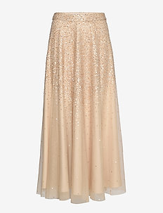 PIANA LONG SEQUIN SKIRT - CROISSANT
