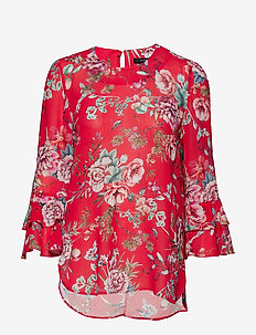 PATTY 2 BLOUSE - POPPY RED FLOWER