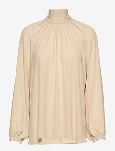 EVELINE LS SCARF TOP - PALE MAUVE
