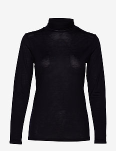 IRALIE ROLL NECK LS TOP - DARK NAVY