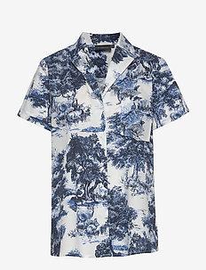 NICELA SHIRT - kortermede skjorter - sapphire blue print