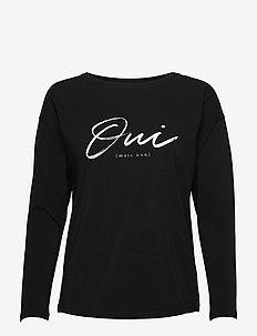 Malvolia shirt - langermede topper - black