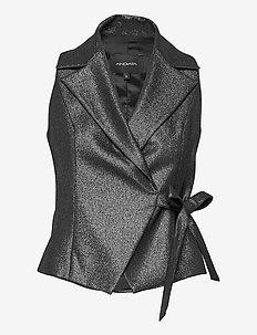REGINA 3V TOP - blouses zonder mouwen - black & silver