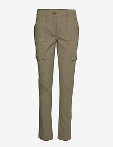 OLENA TROUSERS - pantalons droits - kalamata green