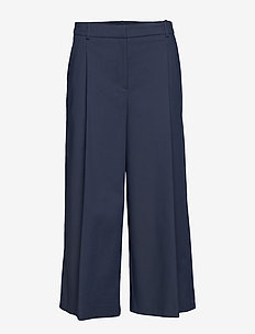 LUCAN WIDE TROUSERS - NAVY BLUE