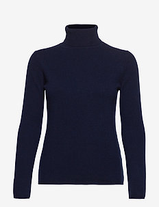 POLANA CASHMERE POLO KNIT - DARK NAVY