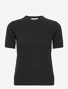 JOSEFA SS CASHMERE KNIT - t-shirts - black