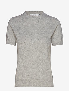 JOSEFA SS CASHMERE KNIT - LIGHT GREY