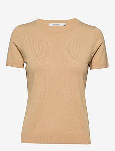 JOSEFA KNIT - gebreide t-shirts - beige