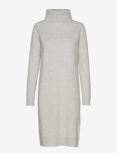 AISLAYNE KNITTED DRESS - LIGHT GREY