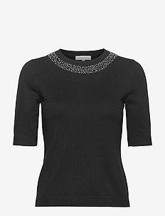 Mimiesa knit - gebreide t-shirts - black