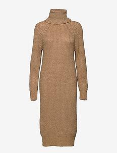 Valenia Knit Dress - midi dresses - caramel beige