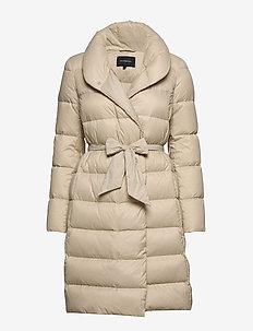 Lumi Down Coat - wyściełane płaszcze - beige