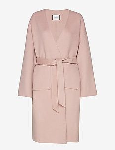 ODNALA WOOL COAT - PALE MAUVE