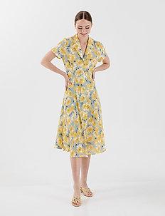 ALICA DRESS - do kolan & midi sukienki - lemon icing yellow flower