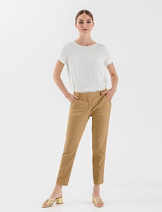 JAMY TROUSERS - chinos - sand beige