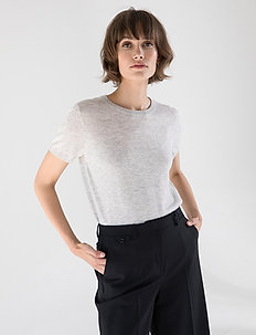 JOSEFA SL KNITTED TOP - knitted tops & t-shirts - pumice stone