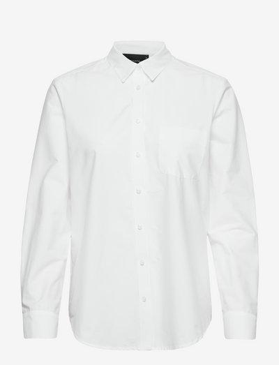 Nicci Cotton Shirt - denim shirts - white