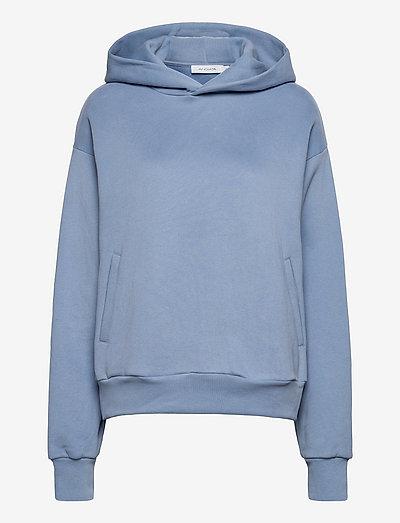 Taira Hoodie - sweatshirts & hættetrøjer - mist blue