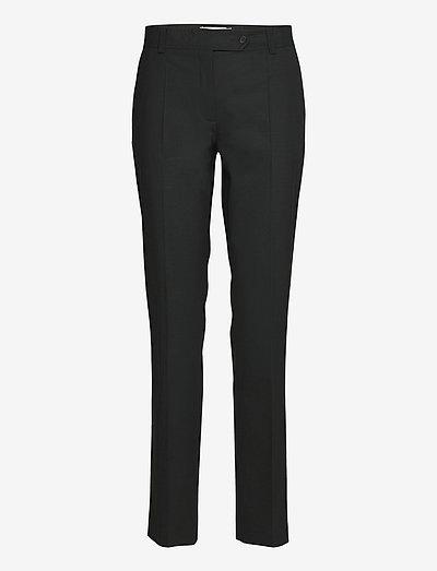 Sanna 2 Trousers - bukser med lige ben - black