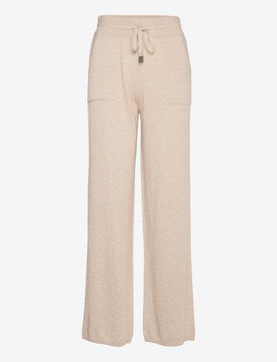 Christie knit joggers - casual bukser - beige