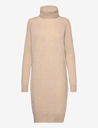 Aislayne Merino Knit Dress - sommerkjoler - honey