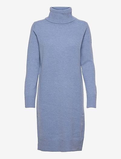 Aislayne Merino Knit Dress - sommerkjoler - hyacinth blue