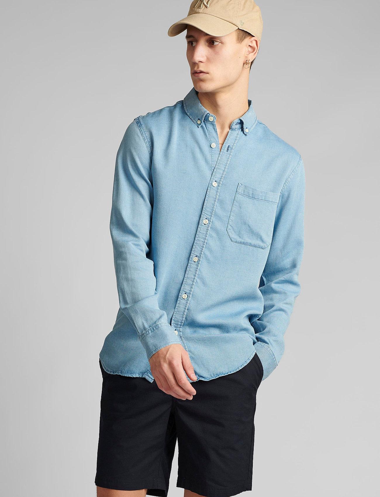 Anerkjendt - AKKONRAD LS TENSEL - linnen overhemden - copen blue - 0