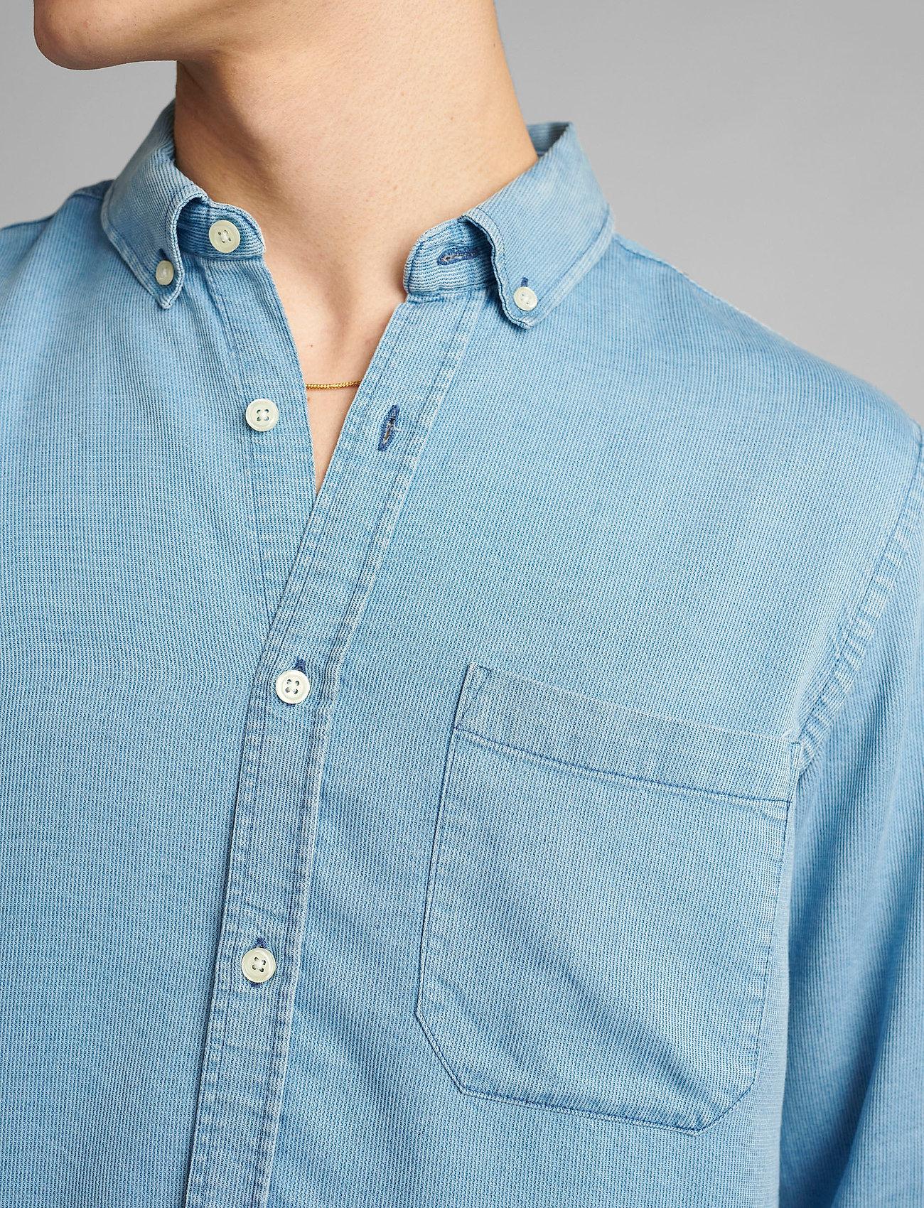 Anerkjendt - AKKONRAD LS TENSEL - linnen overhemden - copen blue - 4