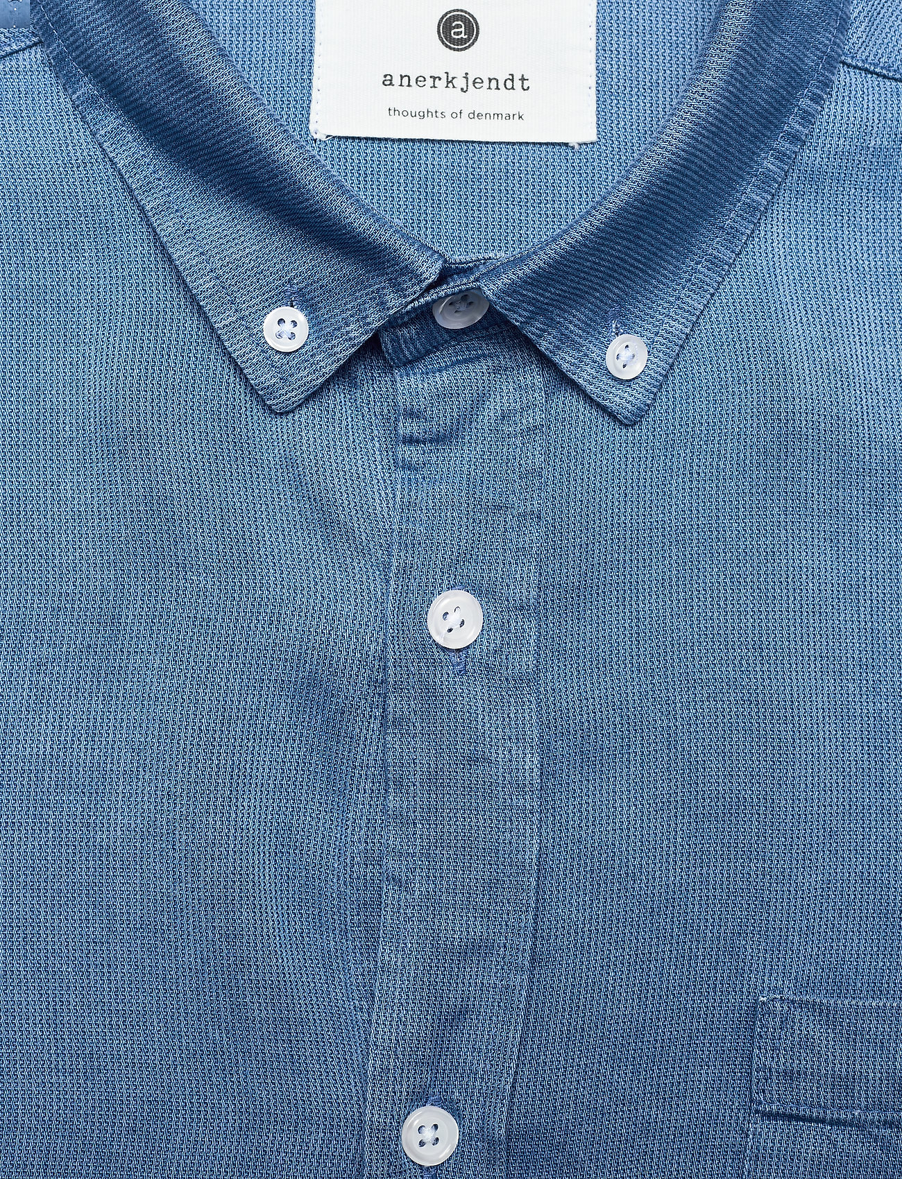 Anerkjendt - AKKONRAD LS TENSEL - linnen overhemden - copen blue - 5