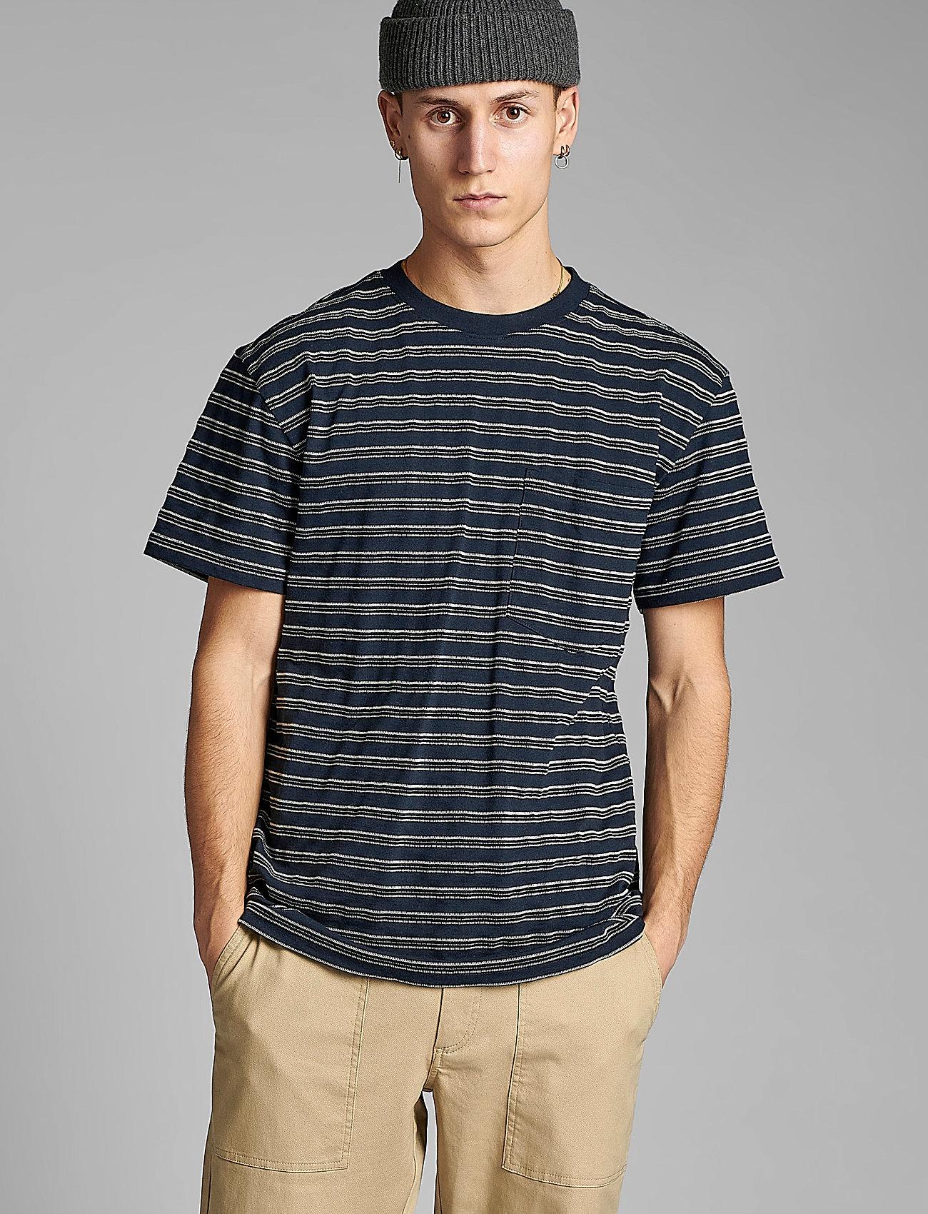 Anerkjendt - AKKIKKI CURV STRIPE - t-shirts à manches courtes - sky captain - 0