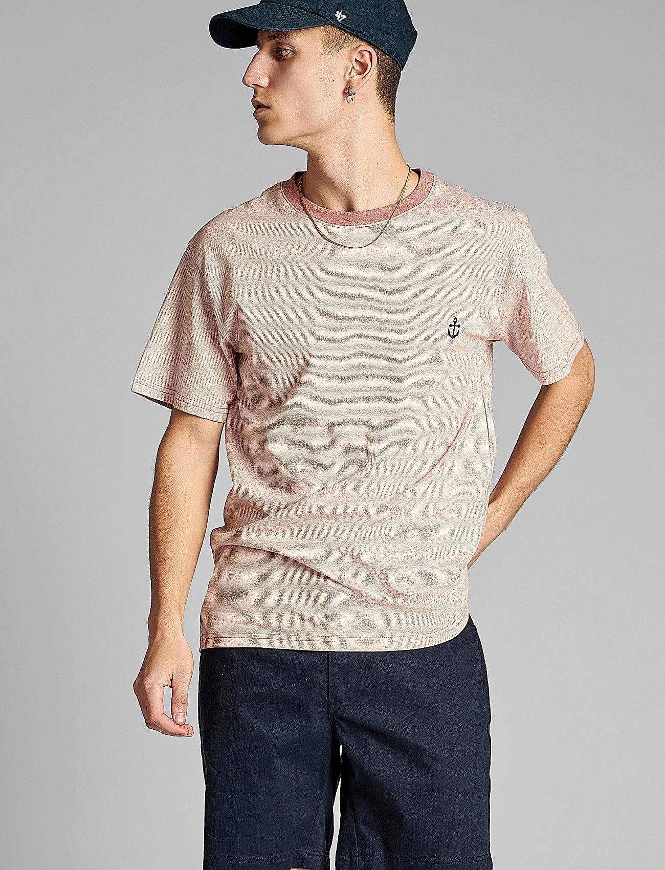 Anerkjendt - AKKIKKI CURV EMB - t-shirts - old rose - 0