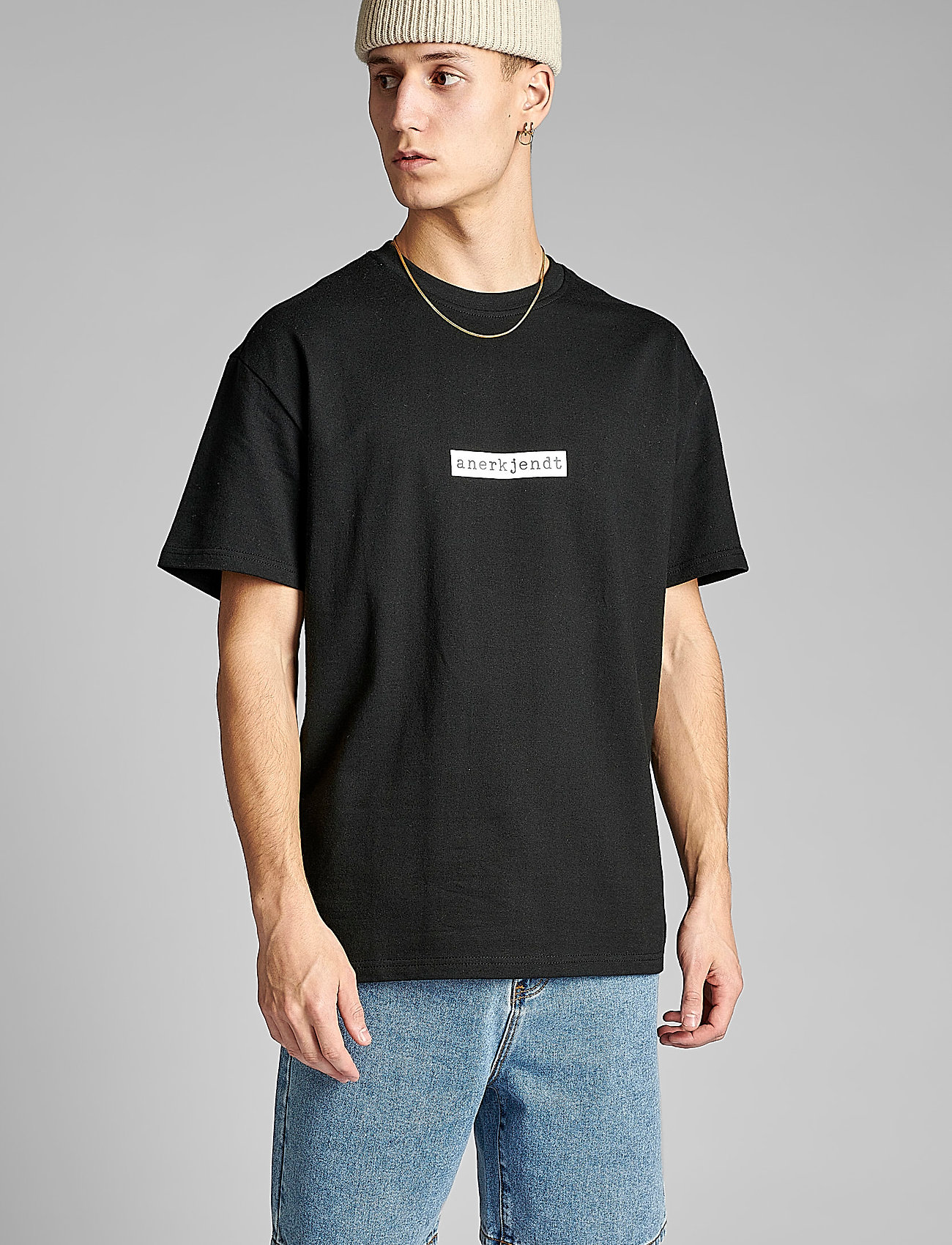 Anerkjendt - AKARNE BOXY SWEAT - t-shirts - caviar - 0