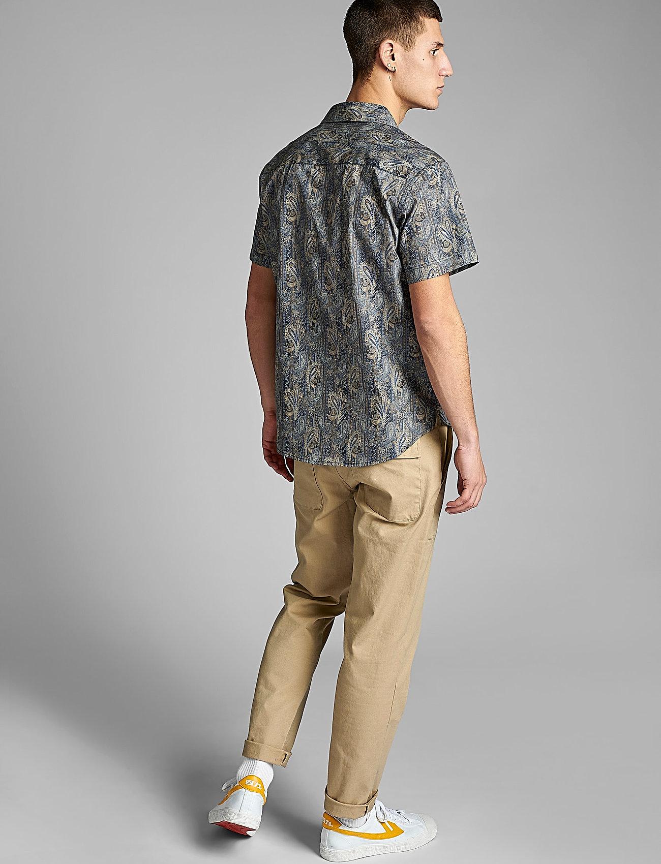 Anerkjendt - AKLEO SS POPLIN AOP - chemises à carreaux - slate black - 3