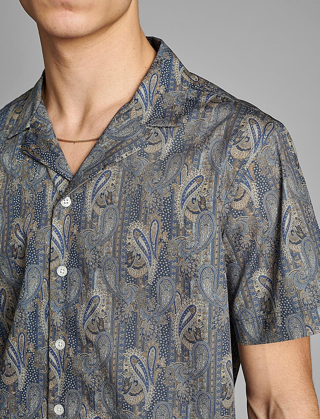 Anerkjendt - AKLEO SS POPLIN AOP - chemises à carreaux - slate black - 4