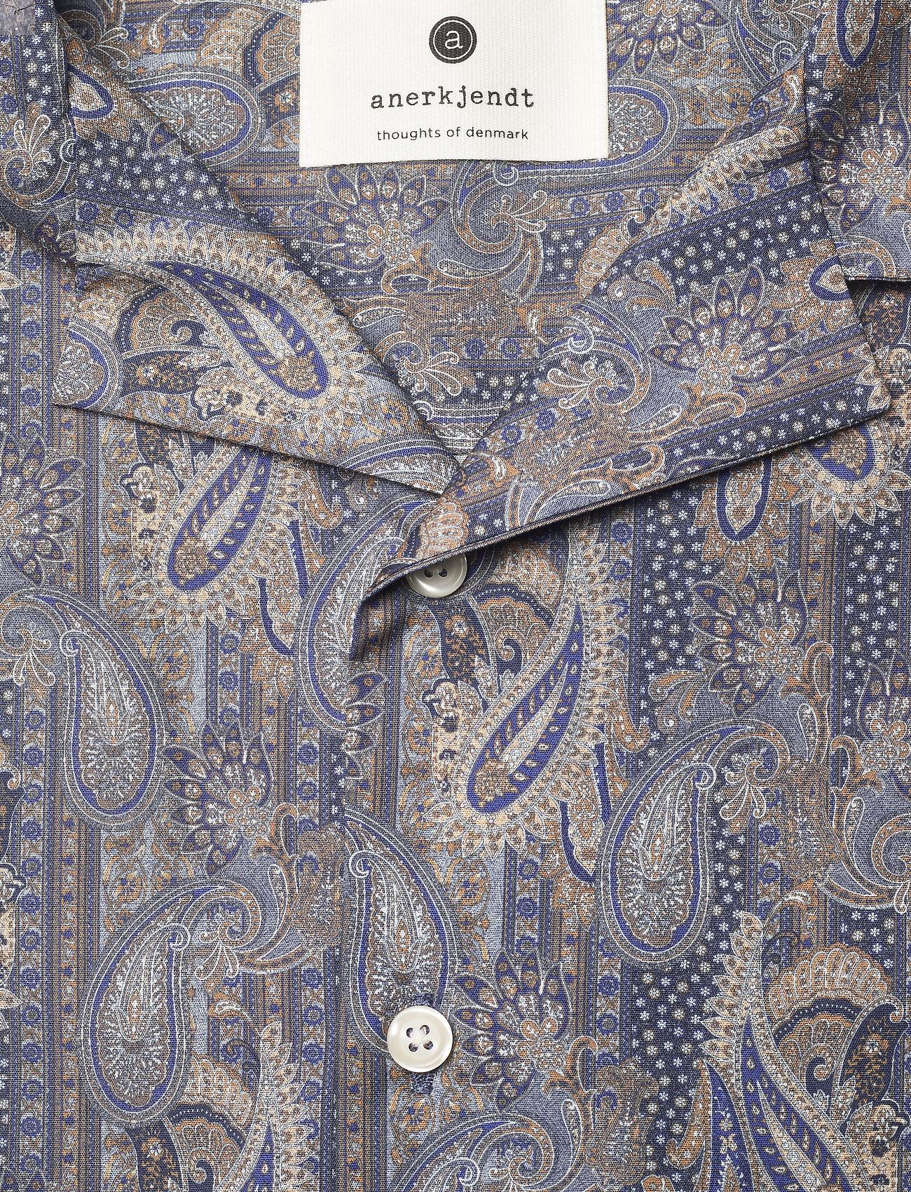Anerkjendt - AKLEO SS POPLIN AOP - chemises à carreaux - slate black - 5
